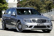 2010 Mercedes-Benz C63 W204 MY10 AMG Grey 7 Speed Automatic G-Tronic Wagon Burwood Burwood Area Preview
