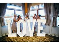 "Hire our Stunning 4ft tall Light Up ""LOVE"" Letters for your special day £130"