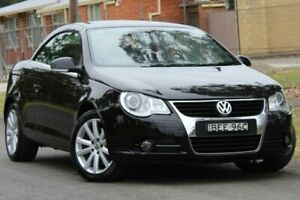 2007 Volkswagen EOS 1F MY08 FSI DSG Black 6 Speed Sports Automatic Dual Clutch Convertible Lansvale Liverpool Area Preview