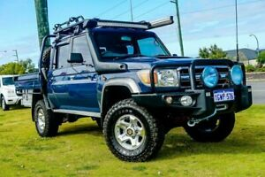 2013 Toyota Landcruiser VDJ79R MY13 GXL Double Cab Blue 5 Speed Manual Cab Chassis