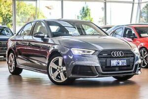 2018 Audi A3 8V MY18 S Line S tronic quattro Grey 7 Speed Sports Automatic Dual Clutch Sedan Osborne Park Stirling Area Preview