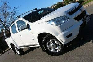 2013 Holden Colorado RG MY13 LX Crew Cab White 5 Speed Manual Utility Nailsworth Prospect Area Preview