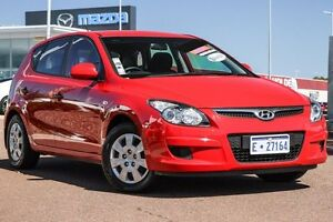 2011 Hyundai i30 FD MY11 SX Red 4 Speed Automatic Hatchback East Rockingham Rockingham Area Preview