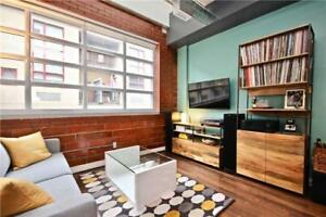 2-Storey 1+1 Bdrm Hard Loft W/ Exposed Brick