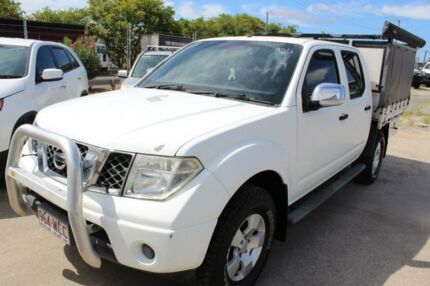 2008 Nissan Navara D40 ST-X White 6 Speed Manual Utility Underwood Logan Area Preview