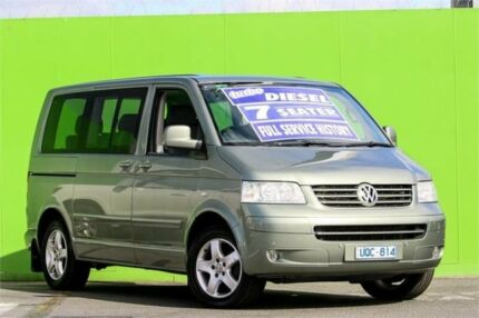2007 Volkswagen Multivan T5 Comfortline Green 6 Speed Sports Automatic Wagon Ringwood East Maroondah Area Preview