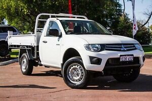 2010 Mitsubishi Triton MN MY10 GLX White 5 Speed Manual Cab Chassis Wilson Canning Area Preview