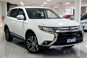 2016 Mitsubishi Outlander ZK MY16 XLS 2WD White Solid 6 Speed Constant Variable Wagon South Melbourne Port Phillip Preview