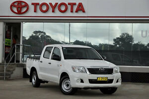 2014 Toyota Hilux GGN15R MY12 SR White 5 Speed Automatic Dual Cab Pick-up Old Guildford Fairfield Area Preview