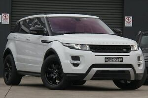 2012 Land Rover Evoque LV SD4 Dynamic White 6 Speed Automatic Wagon Petersham Marrickville Area Preview