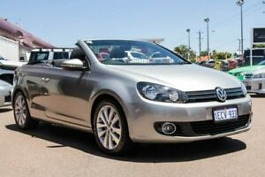 2012 Volkswagen Golf VI MY13 118TSI DSG Silver 7 Speed Sports Automatic Dual Clutch Cabriolet