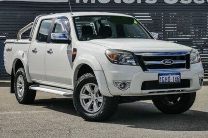 2010 Ford Ranger PK XLT Crew Cab White 5 Speed Automatic Utility