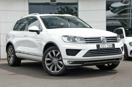2015 Volkswagen Touareg 7P MY15 V6 TDI Tiptronic 4MOTION Pure White 8 Speed Sports Automatic Wagon Kirrawee Sutherland Area Preview