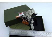 Uzi Submachine Windproof Lighter and Laser - Cool, gift, fun, novelty, collectable item.