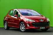 2008 Peugeot 308 T7 XS HDi EGC Red 6 Speed Seq Manual Auto-Clutch Hatchback Ringwood East Maroondah Area Preview