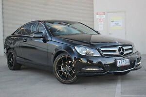 2012 Mercedes-Benz C180 C204 BlueEFFICIENCY 7G-Tronic + Black 7 Speed Sports Automatic Coupe Greensborough Banyule Area Preview