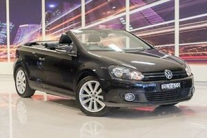2012 Volkswagen Golf VI MY12 118TSI DSG Black 7 Speed Sports Automatic Dual Clutch Cabriolet Blacktown Blacktown Area Preview