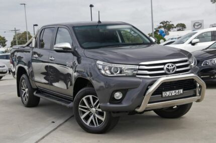 2016 Toyota Hilux GUN126R SR5 Double Cab Grey 6 Speed Sports Automatic Utility Kirrawee Sutherland Area Preview