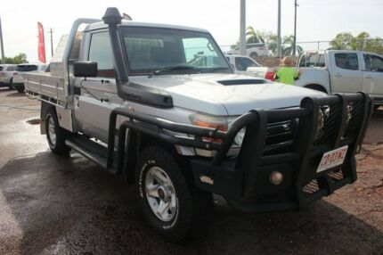 2010 Toyota Landcruiser VDJ79R MY10 GXL Silver Pearl 5 Speed Manual Cab Chassis