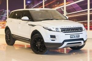 2014 Land Rover Range Rover Evoque L538 MY14 SD4 Pure White 9 Speed Sports Automatic Wagon Blacktown Blacktown Area Preview
