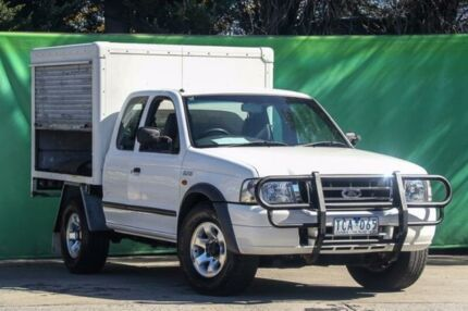 2004 Ford Courier PH XL Super Cab White 5 Speed Manual Cab Chassis