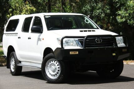 2015 Toyota Hilux KUN26R MY14 SR Double Cab White 5 Speed Manual Utility Hawthorn Mitcham Area Preview