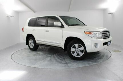 2014 Toyota Landcruiser VDJ200R MY13 Sahara White 6 Speed Sports Automatic Wagon Invermay Launceston Area Preview