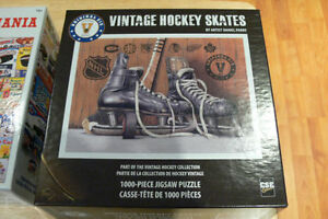"""Vintage Hockey Skates"" 1000-Piece Puzzle (like new)"