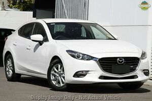 2016 Mazda 3 BN MY17 Touring Snowflake White Pearl 6 Speed Automatic Sedan Liverpool Liverpool Area Preview