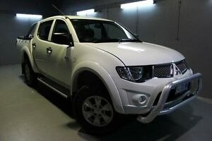 2012 Mitsubishi Triton MN MY13 GL-R Double Cab White 5 Speed Manual Utility Invermay Launceston Area Preview