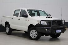 2011 Toyota Hilux KUN16R MY12 Workmate White 5 Speed Manual Cab Chassis Bentley Canning Area Preview