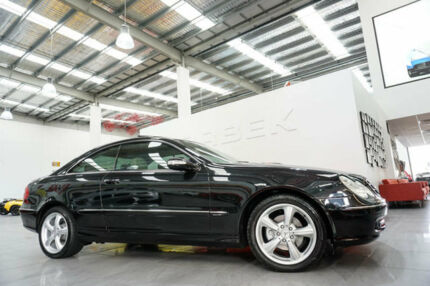 2005 Mercedes-Benz CLK200K C209 Elegance Black 5 Speed Auto Touchshift Coupe Port Melbourne Port Phillip Preview