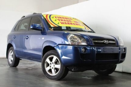 2008 Hyundai Tucson MY07 City SX Blue 5 Speed Manual Wagon Underwood Logan Area Preview
