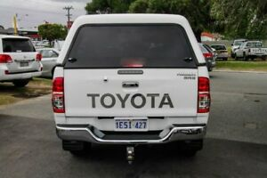 2015 Toyota Hilux KUN26R MY14 SR5 Double Cab Glacier White 5 Speed Automatic Utility