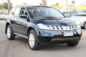 2008 Nissan Murano Z50 TI Blue 6 Speed Constant Variable Wagon Heatherton Kingston Area Preview