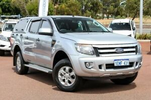 2014 Ford Ranger PX XLS Double Cab Silver 6 Speed Sports Automatic Utility Wangara Wanneroo Area Preview