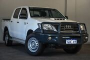 2014 Toyota Hilux KUN26R MY14 SR Double Cab White 5 Speed Automatic Utility Bayswater Bayswater Area Preview