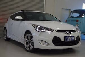2013 Hyundai Veloster FS2 + Coupe D-CT White 6 Speed Sports Automatic Dual Clutch Hatchback Myaree Melville Area Preview