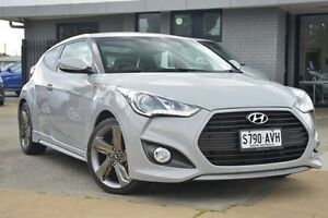 2012 Hyundai Veloster FS2 SR Coupe Turbo Battleship 6 Speed Sports Automatic Hatchback Hillcrest Port Adelaide Area Preview