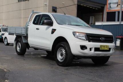 2014 Ford Ranger PX XL 3.2 (4x4) White 6 Speed Manual Super Cab Chassis Revesby Bankstown Area Preview