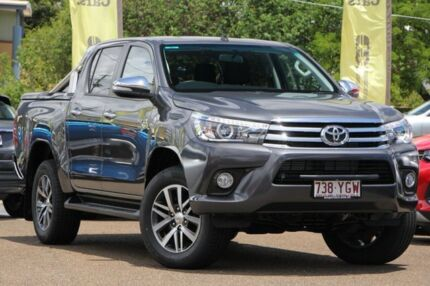 2017 Toyota Hilux GUN126R SR5 Double Cab Grey 6 Speed Sports Automatic Utility Chermside Brisbane North East Preview