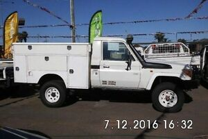 2007 Toyota Landcruiser VDJ79R Workmate White 5 Speed Manual Cab Chassis Fawkner Moreland Area Preview