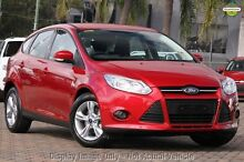 2015 Ford Focus LW MKII MY14 Trend PwrShift Candy Red 6 Speed Sports Automatic Dual Clutch Hatchback East Rockingham Rockingham Area Preview