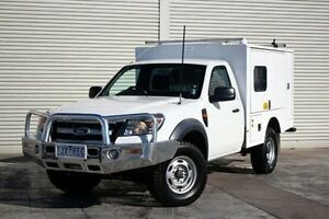 2009 Ford Ranger PK XL White 5 Speed Manual Cab Chassis Seaford Frankston Area Preview