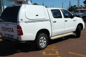 2012 Toyota Hilux KUN26R MY12 SR Double Cab White 5 Speed Manual Utility Westminster Stirling Area Preview