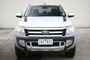 2013 Ford Ranger PX XLT Double Cab Silver 6 Speed Sports Automatic Utility Seaford Frankston Area Preview