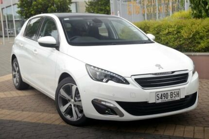 2016 Peugeot 308 T9 MY17 Allure White 6 Speed Sports Automatic Hatchback Wayville Unley Area Preview