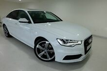 2014 Audi A6 4G MY15 S Line S tronic quattro White 7 Speed Sports Automatic Dual Clutch Sedan Glebe Hobart City Preview