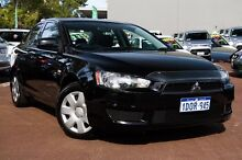 2011 Mitsubishi Lancer CJ MY11 ES Black 6 Speed Constant Variable Sedan Cannington Canning Area Preview