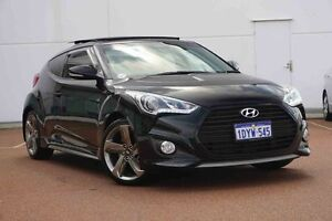 2012 Hyundai Veloster FS2 SR Coupe Turbo Black 6 Speed Manual Hatchback Wangara Wanneroo Area Preview